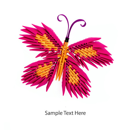 Origami Papillon 3d Gallery Of D Paper Butterfly Wall Decor