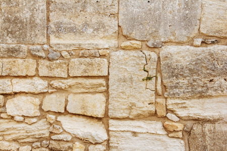 past civilization: Ancient dirty stone wall  old greece building Knossos palace background