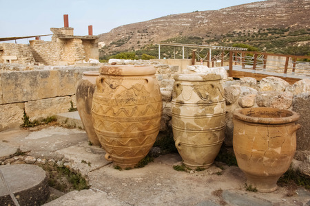 archaeology: Knossos palace vases architecture famous archaeology greece ruined