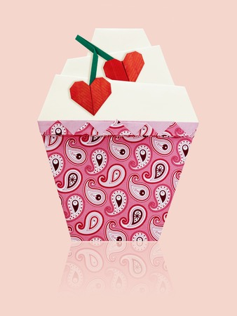 Origami Art Cupcake Stock Photo Picture And Royalty Free Image