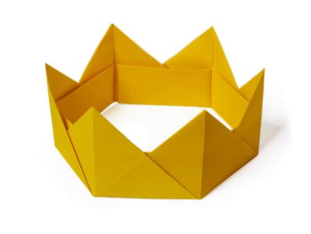Origami paper crown