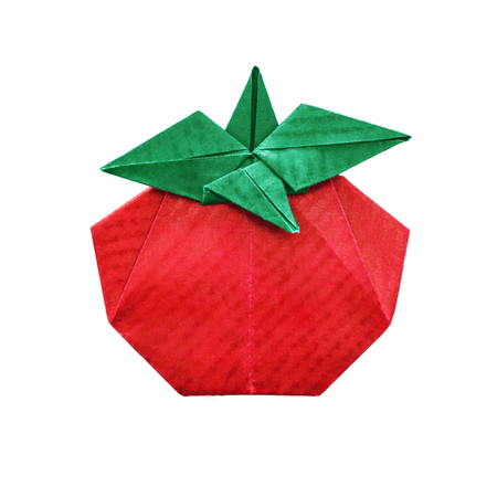Tomato abstract origami
