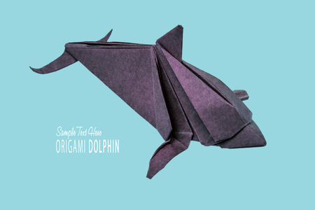 Dolphin origami of paper