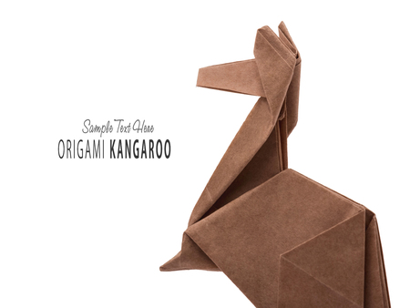 A Kangaroo Origami Stock Photo Picture And Royalty Free Image