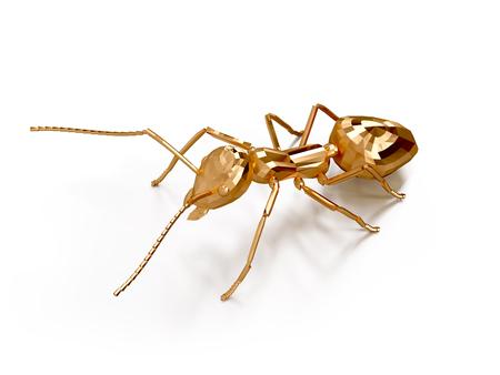 heavy: 3D illustration of ant Stock Photo