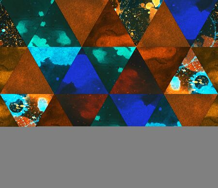 Watercolor triangle saturated background