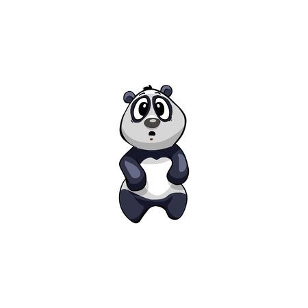 panda bear: panda,  bear, panda bear;Cartoon Character.  Emotion: shocked