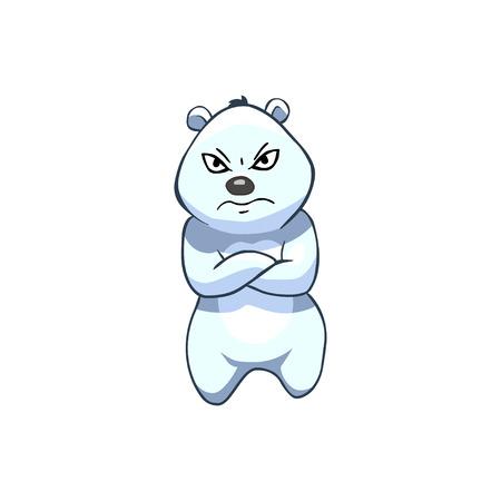 Cartoon Character. Displeased