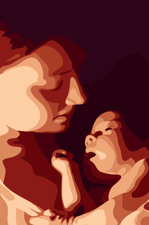Mother and her baby vector illustration  Illustration