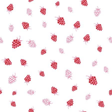 raspberries: Seamless pattern of raspberries. Vector illustration in eps8 format