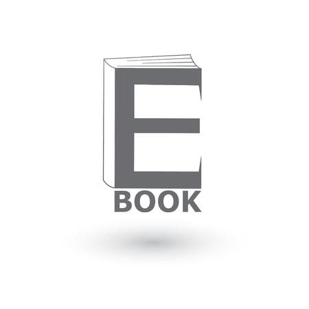databank: E-book icon, logo. Vector illustration