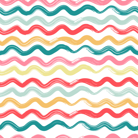 Wavy, striped seamless pattern