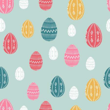 hull: Easter seamless pattern