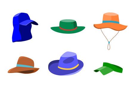 男性と女性のための夏用帽子のセット
