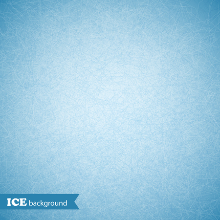 Ice scratched background, texture, pattern. Vector illustration