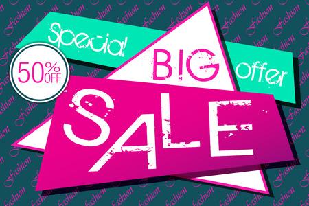 fashion design: Fashion Big Sale Design Card Illustration