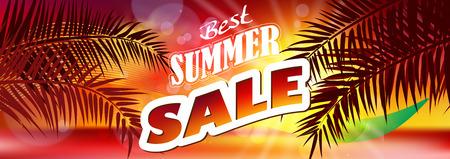 Summer Sale. Summer sale banner background Illustration