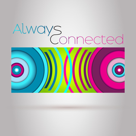 wireless connection: Always Connected Vector Background. Colorful Abstract Wifi Connection Illustration. Modern Wifi Connection Concept. Wireless Connection Signal Concept.