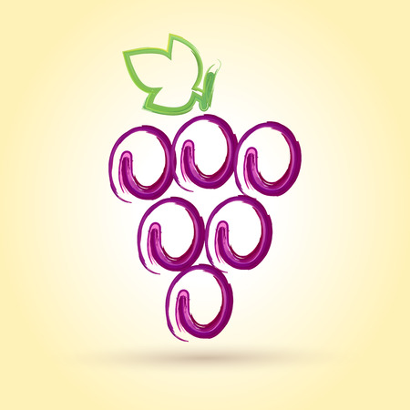 purple grapes: Grape Wine Illustration