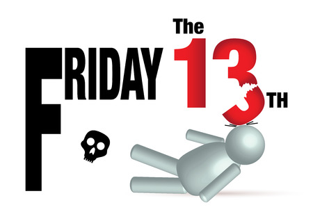 freaked out: Friday the 13th vector concept