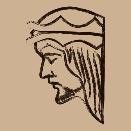 Jesus Christ Hand Drawn Vector Illustration. Face of Jesus. Sketch of jesus christ. Stock Vector - 58769608
