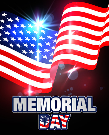 memorial day banner memorial day background template with american