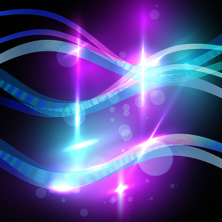 neon lights: Abstract glowing background resembling blurred neon lights. Lighting effects of flash.