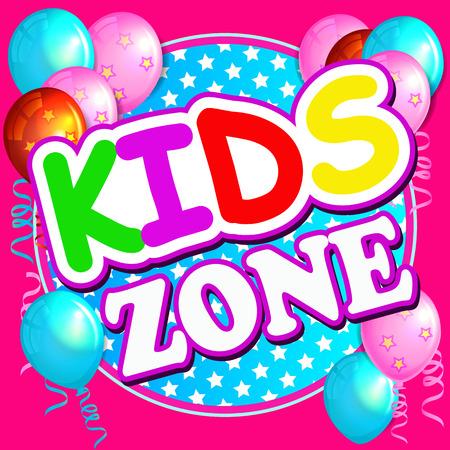 children playground: Kids Zone Banner Design. Children Playground Zone. Playground Park. Kids Area. Illustration