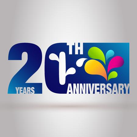 Template 20th Anniversary. Anniversary Emblem 20 Anniversary Design.