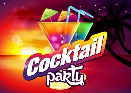 caribbean party: Summer Cocktails Banner