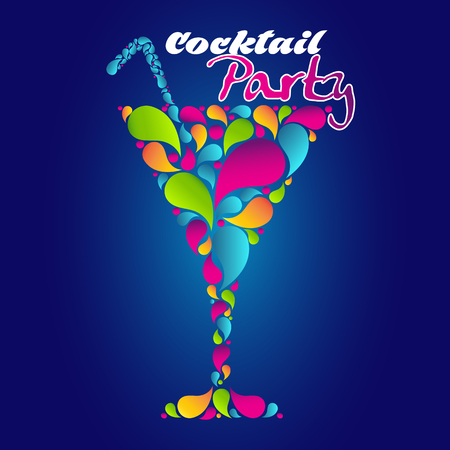 summertime: Cocktail Party Poster Illustration