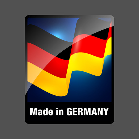 made in germany: Made in Germany Sticker. Germany Product Label with Flag. Made in Germany Button. Made in Germany Single Badge.