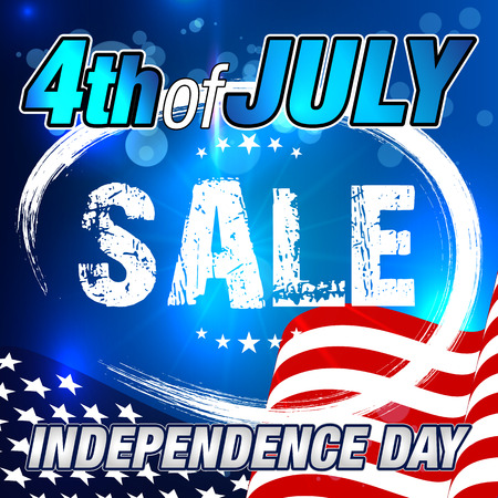 4th of July Sale. Sale Banner. Independence Day Sale Banner.