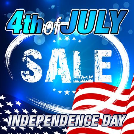 7 月発売の第 4 回。販売バナー。独立記念日セールのバナーします。