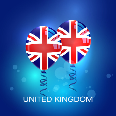 referendum: UK Flag Balloons. United Kingdom Banner. Great Britain Flag. UK Referendum.