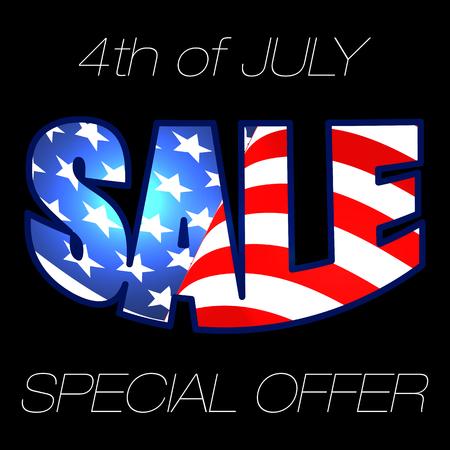 7 月発売の第 4 回。第 4 回 7 月販売。販売を提供します。クリアランス セール。独立記念日セール