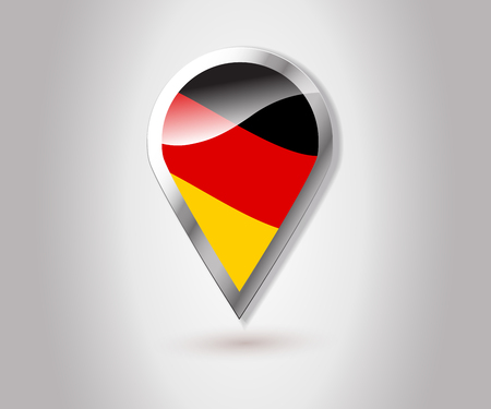 gprs: Germany flag pin map icon.