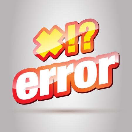 error message: Error. Error Message. Error 404. Error Text. Warning.
