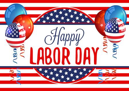 day: Labor Day. Happy Labor Day Card. Labor Day Holiday.