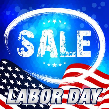 day: Labor Day Sale. Labor Day Card.