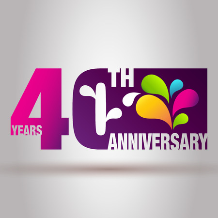 jubilation: Anniversary Card. Anniversary Background. 40th Anniversary Template. Illustration