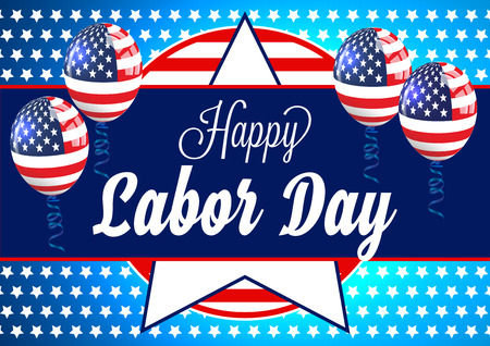 Labor Day Card. Happy Labor Day Banner. Illustration