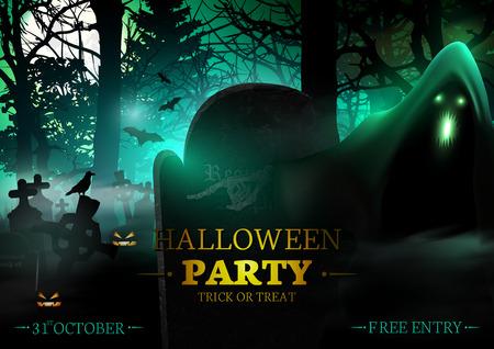 halloween party: Halloween Party. Illustration
