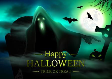 halloween background: Halloween Spooky Background. Happy Halloween Banner.