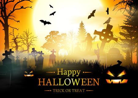 halloween background: Halloween Background. Happy Halloween Banner.