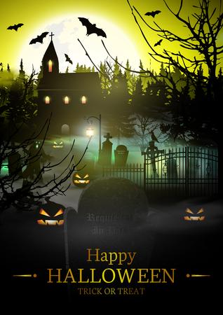 halloween background: Happy Halloween. Halloween Background. Illustration