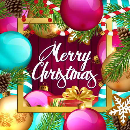 greeting card background: Christmas Background. Merry Christmas greeting card. Illustration