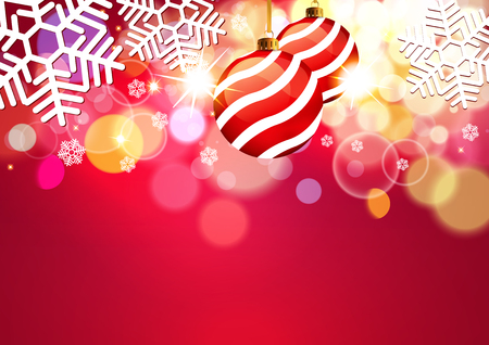 Christmas red background. Illustration