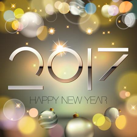 year: 2017 new year background Illustration