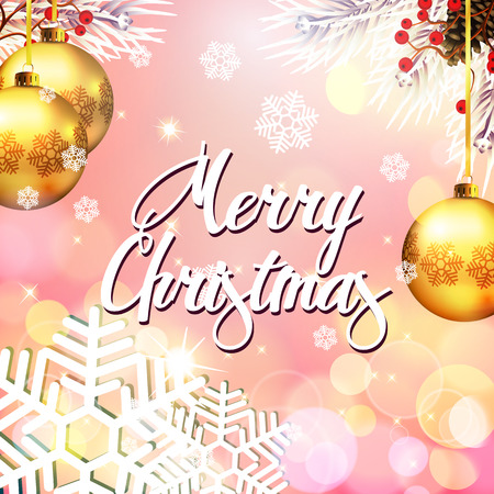 christmas greeting: Beautiful christmas greeting card Illustration